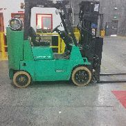 Mitsubishi FGC40K, 8,000# Cushion LPG Forklift, 3 Stage, S/S & F/P Only 5k HOURS