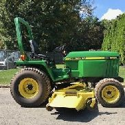 "1998 John Deere 855 Tractor 24 Hp Diesel 4x4 72"" Finish Mower PTO 3 Point Hitch"