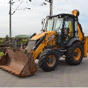 2013 JCB 3CX Turbo Powershift Backhoe Loader, Piped c/w Extendahoe, 4in1 Bucket, Bucket, Forks - JCB3CX4TT02255594