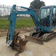 2002 Takeuchi TB125 Rubber Tracks, Blade, Offset, Piped c/w 4 Buckets - 12511600