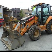 2008 CAT 432E Turbo Powershift Backhoe Loader, Piped c/w 4 in1 Bucket, Forks - CAT0432EVBXE03878