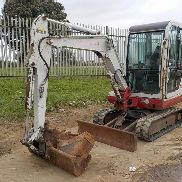 2007 Takeuchi TB125 Rubber Tracks, Blade, Offset, QH, Piped c/w 3 Buckets - 12517813