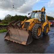 JCB 4CX 4WS Turbo Powershift Sitemaster Backhoe Loader, Forks, Piped c/w 4in1 Bucket - SLP4CXFSVE0466076