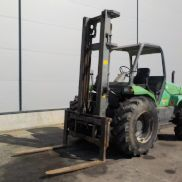 Manitou M26-4 Rought Terrain Forklift c/w 3 Stage Mast, Forks - 163532