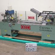 Ceco Cartoner Semi Horiz. Glue (Semi) 42B Specifications- Semi-Automatic, Horizontal, Continuous, Glue flap, Coder available,