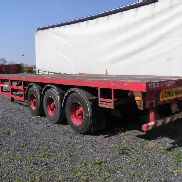 TRAILER: BROSHUIS 3 AXLE 40-60 EXTENDABLE FLAT TRAILER YEAR: 1989 SEROAL NO: 89106