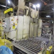 Ransohoff Parts Washer, sn 4199, 45 X 64 Inch Racks, Unit Includes: Power Roller Feed Conveyor, 2ea Gusher 60 HP Pumps, ...