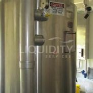 Lee Industries Stainless Steel Jacketed 2000L 3 Media Prep Tank, NB # 9456, sn# 27989-1, mfg. date 200, MAWP Internal 75 ...