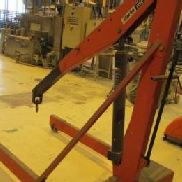CLARKE 'HDC200' Workshop Mobile Crane CLARKE HDC200 heavy duty mobile workshop crane. 2000kg capacity; 4 stage extending ...