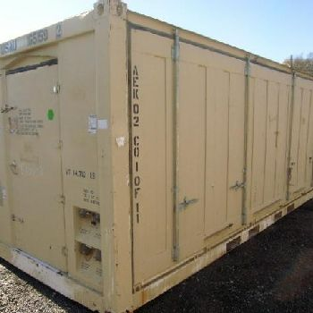 2011 TriTech USA Inc All Electric Kitchen unit, includes 2 expandable twenty foot shipping containers. (1) Kitchen Modul