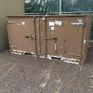 1997 Garrett Container Systems Shipping and Storage Container. S# 9709-0003. Double lockable doors on front and back. Ap