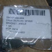 121ea(Apprx) Oshkosh Corporation, Angle Bracket, P/N 1874820, Unused In Original Packaging