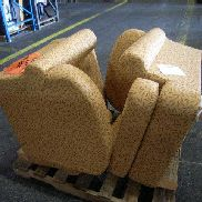 2ea. Cushioned chairs with seat cushion. items may have some damages. GL will provide tailgate loading, load out and pre