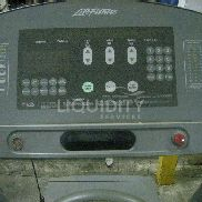 Life Fitness 95TN Treadmill. Odd plug. Not powerd up. Operational status is unknown. Has surface rust. Total weight esti