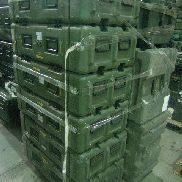 26 Pcs. Shipping and Storage Containers on 2 pallets to include but not limited to: 2 Ea. Hardigg Transit Case, L:32in,
