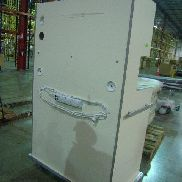 "Mass Hospital cabinet dresser w/mounted outlet, Length 41 1/2"" Width 23"" Height 71"", Color White, Key not included, Used"