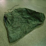 285ea(Apprx) Clothing Bag, Top Opening w/ Tie String, A10 Cylindrical, Olive Drab Nylon, Single Wall Internal Rubber, W