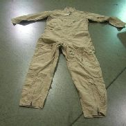 35ea,Flyer's Coveralls, Slide fastener front,Slide fastener leg front, below knee to bottom,Size 48L, Color Tan,Unused
