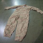 40ea,Flyer's Coveralls, Slide fastener front,Slide fastener leg front, below knee to bottom,Size 48L, Color Tan,Unused