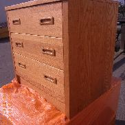 "11 plts household furniture to include 8 ea 3 drawer wooden dresser, dim. 30"" X 22"" X 29"". 6 ea hutch assy. dim. 11 1/2"