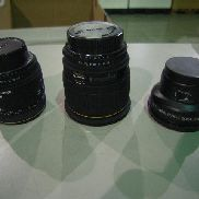 7eaCamera Lens To Include: AF Video Wide Converter, 0.5X, Camera Lens; Sigma, 24mm, Camera Lens; Sigma, 50mm, Camera Len