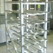 2 Ea. Food Service Equipment Racks. To incude: 1 Ea. KEL Max Equipment 4H1582. Can dispenser rack. Unit is mobile. Has 8