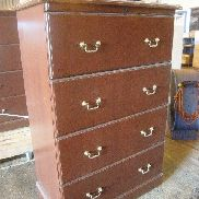 5 ea on 3 Plts Unicor, Wood File Cabinets, 4 drawer, 4 ea dimensions: 35in X 19.75in X 53.25in, 1 ea 35in X 19.75in X 56