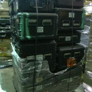 32 Pcs. Shipping and Storage Containers on 3 pallets to include but not limited to: 2 Ea. Pelican 1600 Hard Case, black,