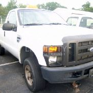 2008 Ford F-250 Pickup truck VIN: 1FTNF21518EA90896. Meter indicates 47,430 miles. Powered by a gas engine. Equipped