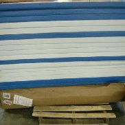 "170 each approx. recreational/gymnastic padded panels, white and blue in colors. each measures 24""X72"". GL will provide"