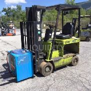 1996 Clark ECS20 3,500lb Capacity 48 Volt Electric Sit Down Single Forklift. Approximately 20,850 Hours. Serial Number: