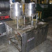 Vulcan Steam table with 2 stainless steel kettle. Operational status is unknown. Total weight estimated. 48 hour request