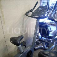 Precor C846i bike machine, equipped with HR monitor, adjustable seat, set programs. Powers on with pedaling, battery lo