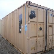 "Mfg unknown 20 ft Container with Evermaster waste disposal empty tank inside unit, meas 171"" x 81"" x 65"", GL will only L"