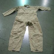 40ea,Flyer's Coveralls, Slide fastener front,Slide fastener leg front, below knee to bottom,Size 50R, Color Tan,Unused