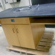 Work table, Approx. 72 X 40 X 36 Inches, Sink, 2 Doors open from both side, GL will provide tailgate loading, View and