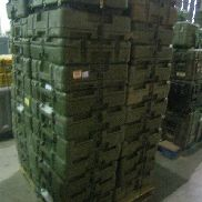 45 Pcs. Shipping and Storage Containers to include: 2 Ea. Transit Case with wheels, L:23in, W:17in, H:11in; 43 Ea. Sto