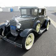 1930 Ford Model A Deluxe Sport Coupe. Vin # A4563674. Mileage reads 2,279 (mileage is since restoration). Powered by the