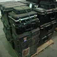 26 Pcs. Shipping and Storage Containers to include but not limited to: 10 Ea. Transit Case with wheels, L:28in, W:17in,