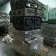 33 Pcs. Shipping and Storage Containers on 2 pallets to include but not limited to: 6 Ea. Pelican Hard Case with wheels,