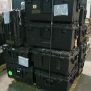 15 Pcs. Shipping and Storage Containers to include but not limited to: 13 Ea. Hard Case Storage Container, black, L:23in