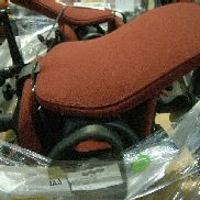 40 EA Burgundy office chairs with 5 casters. GL will provide tail gate loading assistance.