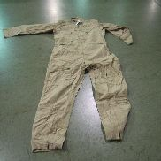 58ea(Apprx)Flyer's Coveralls, Slide fastener front,Slide fastener leg front, below knee to bottom,Size 48L, Color Tan,Un