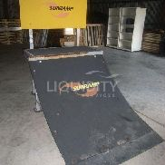 "SunRamp skate ramp. Estimated dimensions: 87"" X 48"" X 70.5"". Total weight estimated. 48 hour request for preview and 72"