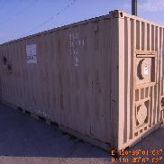 Frederick Mfg p/n LP/PDES /-96 containerized latrine system, Includes Esen TY 20C-GA-1 container (6) stall commode, (1)