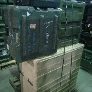 19 Pcs. Shipping and Storage Containers on 2 pallets to include but not limited to: 5 Ea. Hardigg Transit Case, L:28in,