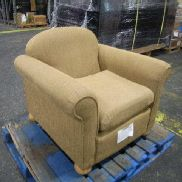 3ea. Cushioned chairs with seat cushion. light brown in color. GL will provide tailgate loading, load out and preview by