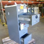 Mosler SFC-5, five drawer file safe, digital combo set to 50-25-50, on steel cart with casters. Preview and buyer pickup