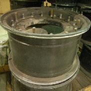 15ea Hutchinson Wheel assembly, Nonmagnetic, Size 16 x 9.50mm Dot-1, 8 Lug, Tires not included, 62161 WI-0420, Used