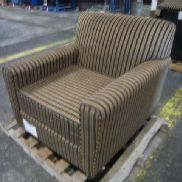5ea. Cushioned chairs with seat cushion. dark brown in color. GL will provide tailgate loading, load out and preview by